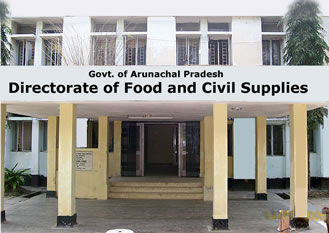 Welcome to the Official website of Department of Food and Civil Supplies, Govt. of Arunachal Pradesh